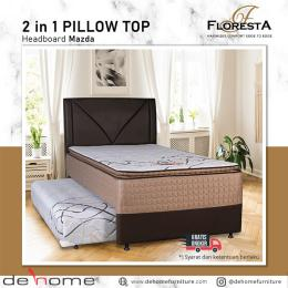 SPRING BED 2 IN 1 PILLOW TOP  FLORESTA