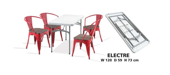 FOLDING TABLE MEJA LIPAT CAFE AVEDA - ELECTRA GREY 1 electre